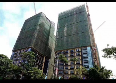 公明红本写字楼《水岸新城》814套,其中公寓286套 二层地下停车库、1:1.3车库比
